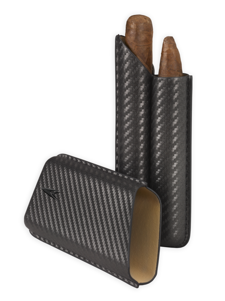 Lotus Lotus 2 Finger Cigar Case (62 ring) - Carbon Fiber Wrap