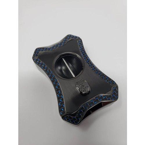 Rocky Patel Cigar Accessories Viper Series V Cutter - Gunmetal, Blue
