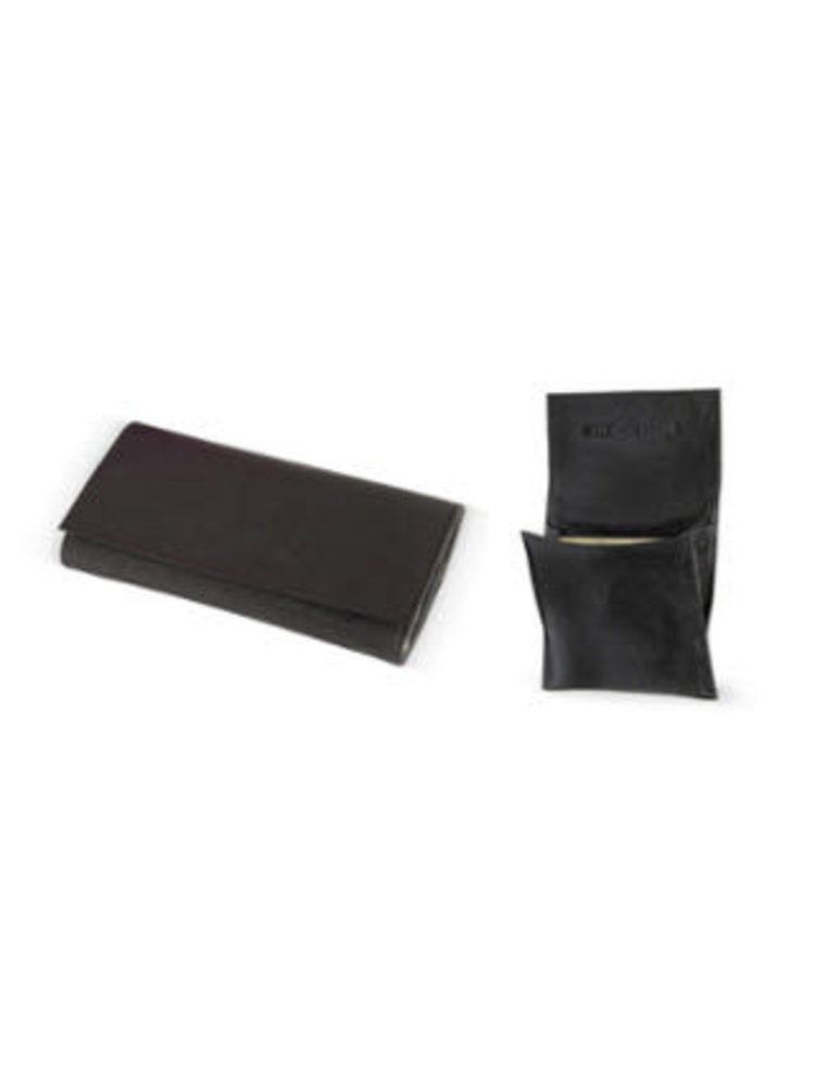 4th Generation 4th Generation - Leather Rollup Tobacco Pouch - Black