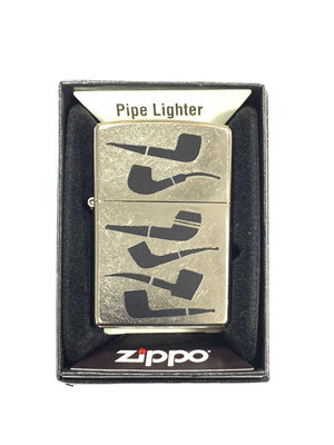 Zippo Zippo Pipe Lighter - Stacked Pipes