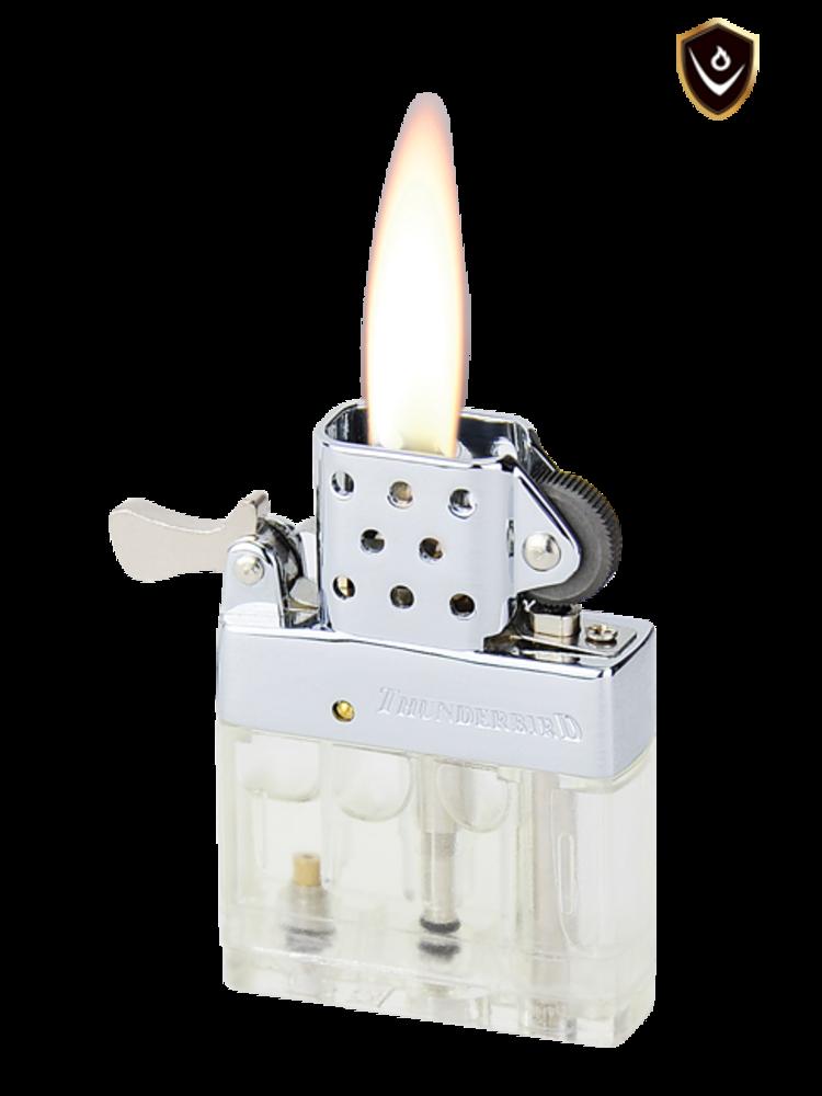Vector Thunderbird Lighter - Brush Chrome - Soft Flame