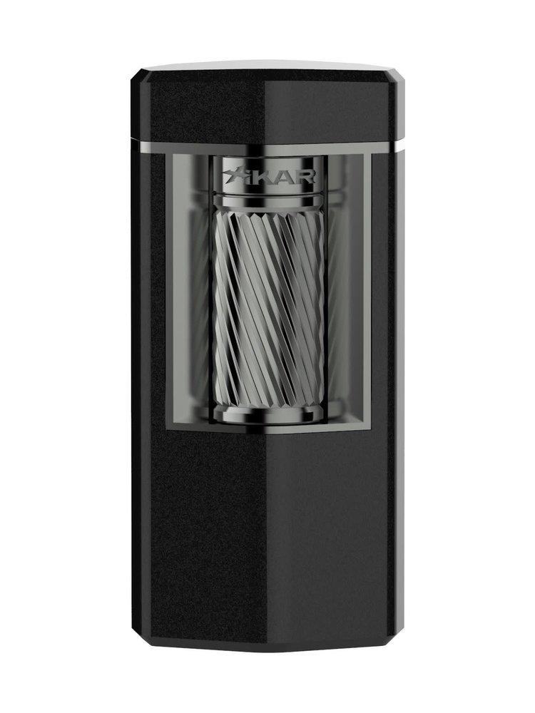 Xikar XIKAR Meridian Flint Lighter - Black Matte and Gunmetal