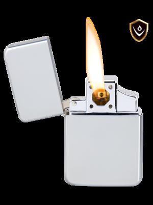 Vector Thunderbird Lighter - Chrome Satin - Pipe Flame