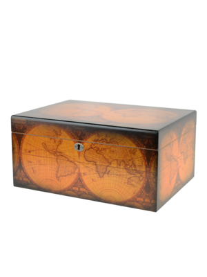 Quality Importers Old World Humidor - Maple Finish - Holds 100