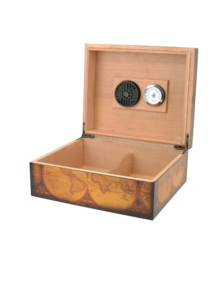 """Quality Importers Capri """"Old World"""" Humidor - Holds 25"""