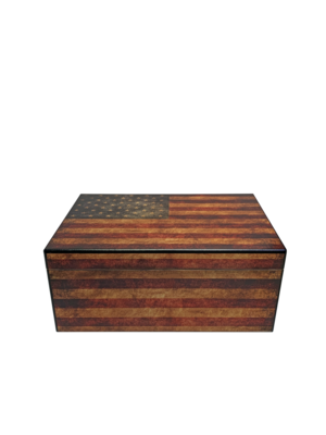 """Quality Importers Capri """"Old Glory"""" Humidor - Holds 50"""