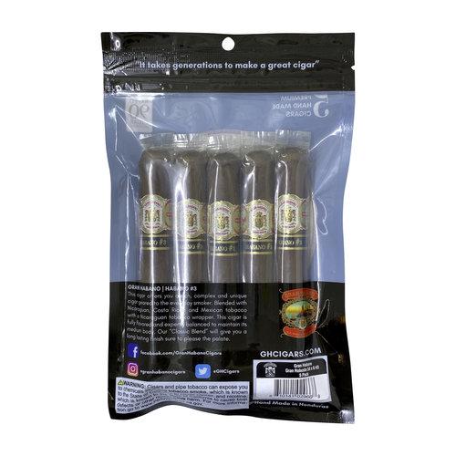 Gran Habano Gran Habano Fresh Pack Sampler - Habano #3 - 5 Pack