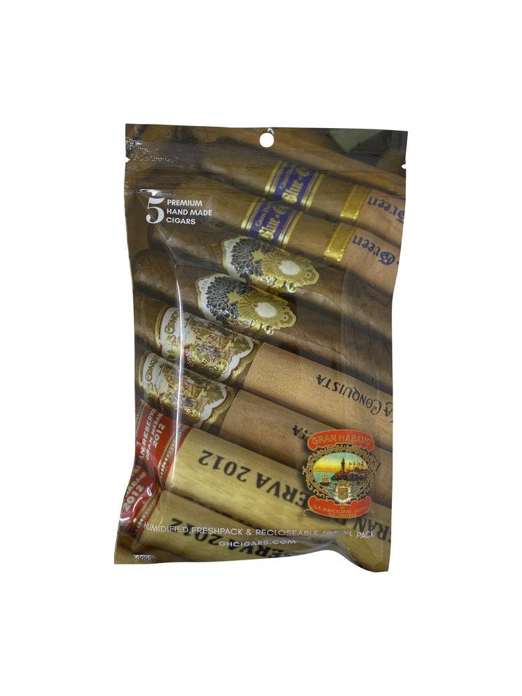 Gran Habano Gran Habano Fresh Pack Sampler - Premium Brand - 5 Pack