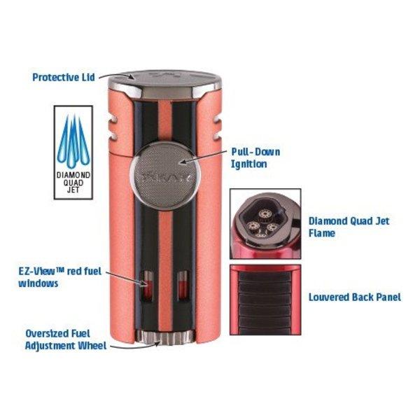 XIKAR HP4 Quad Lighter - Matte Black