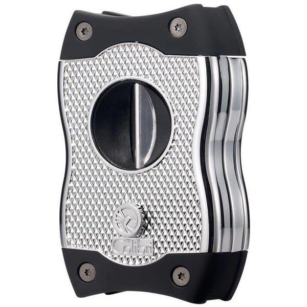 Colibri SV-CUT (2 in 1) Cigar Cutter - Chrome and Black