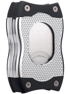 Colibri Colibri SV-CUT (2 in 1) Cigar Cutter - Chrome and Black