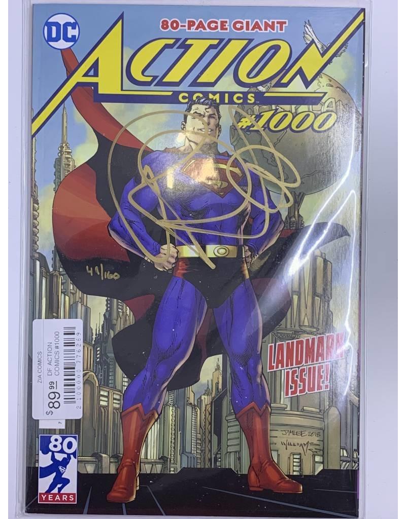 DC Comics DF ACTION COMICS #1000 SGN BENDIS GOLD