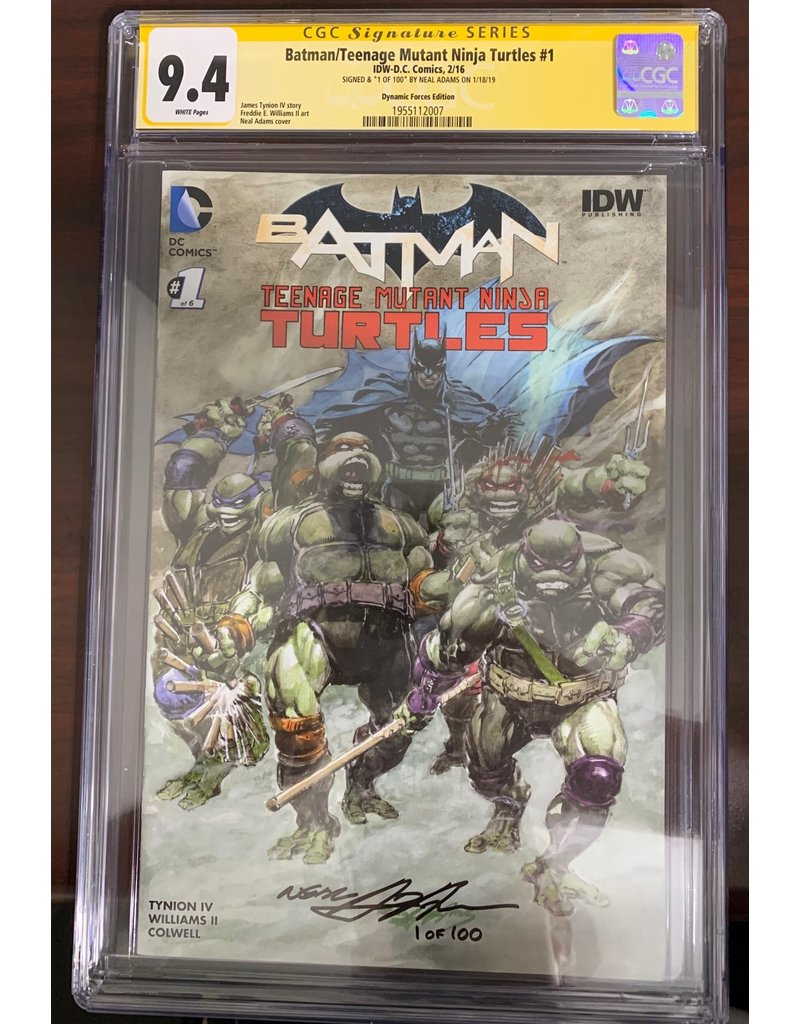 DC Comics Batman/Teenage Mutant Ninja Turtles #1 CGC 9.4 signed by Neal Adams