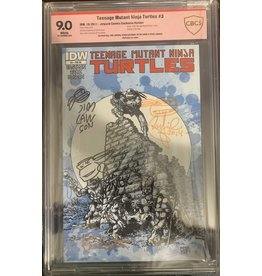 Teenage Mutant Ninja Turtles #3D sketch and signed by Jim Lawson, Kevin Eastman, Peter Laird, Steve Lavigne