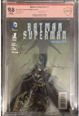 DC Comics Batman Superman #1 CBCS 9.8 red label signed by Ben Oliver, Greg Pak, Jae Lee