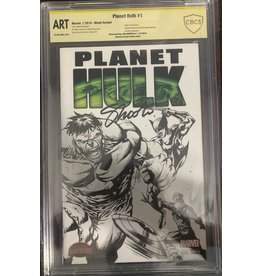 Marvel Comics Planet Hulk #1 sketch cover signed by Jim Shooter