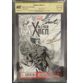 Marvel Comics All-New X-men #1 sketch cover signed by Jim Shooter & Kelly Hu