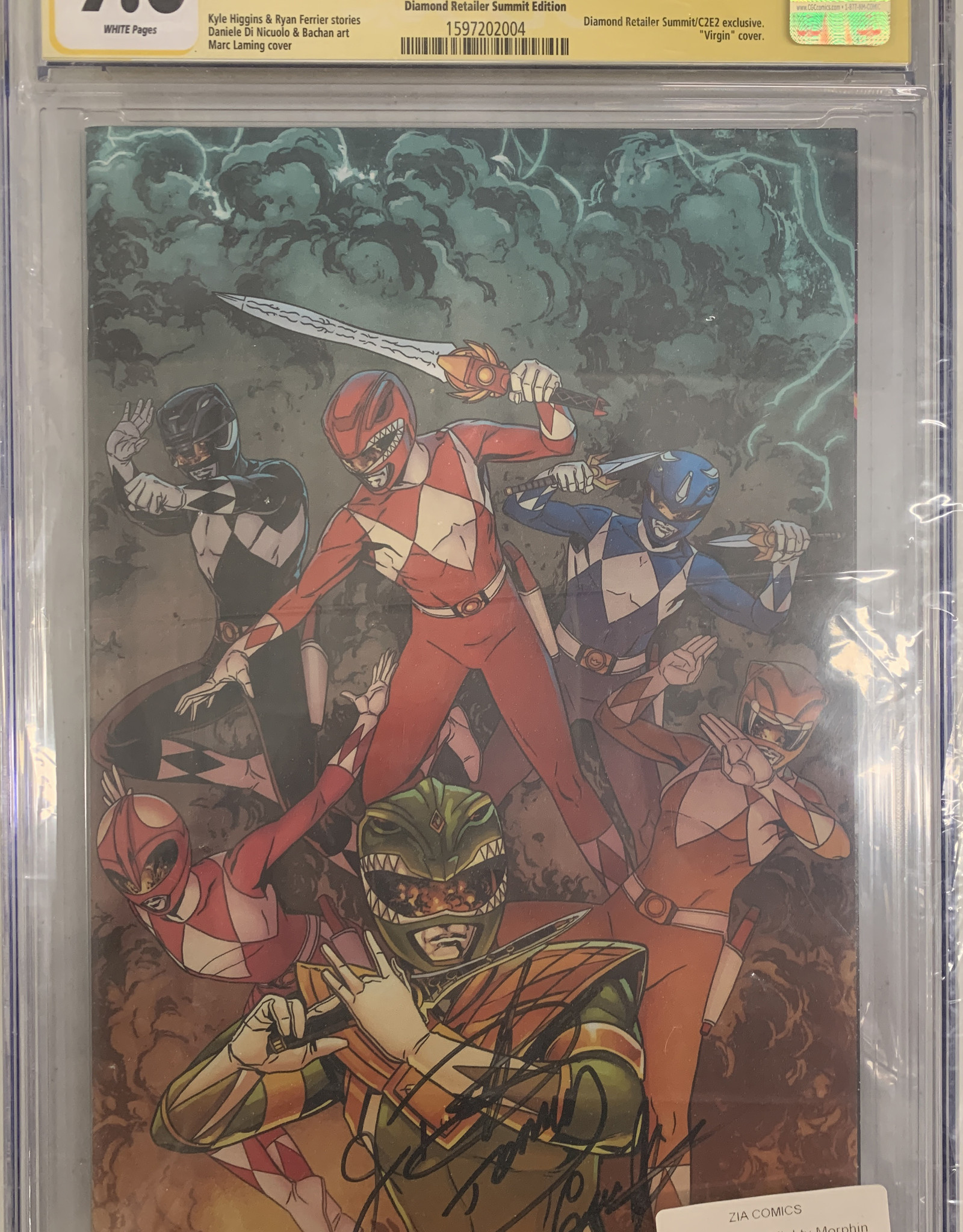 Mighty Morphin Power Rangers #25 signed by JDF