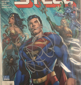 DC Comics DF Man of Steel #1-6 Super Six Pack Signed by Bendis