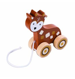 Apple Sauce Wooden Pull Toy - Deer