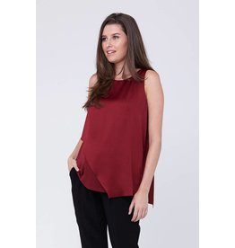 Ripe Maternity Asymmetric Nursing Top - Garnet
