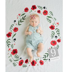 Little Unicorn Milestone Photo Blanket - Summer Poppy