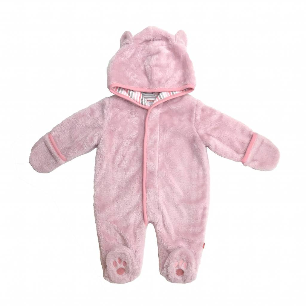 Magnificent Baby Magnetic Minky Fleece Coverall - Peony