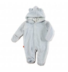 Magnificent Baby Magnetic Minky Fleece Coverall - Cloud Blue