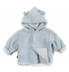Magnificent Baby Magnetic Minky Fleece Baby Jacket - Cloud Blue