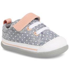 See Kai Run Stevie Sneaker Walker - Grey/Coral
