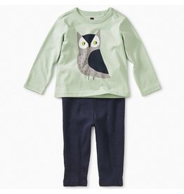 Tea Collection Wise Owl Baby Outfit