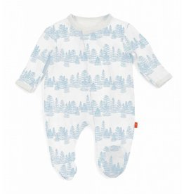 Magnificent Baby Magnetic Modal Footie - Blue Aspen