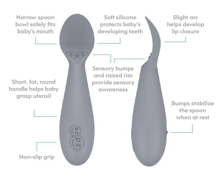 EzPz Tiny Spoon - Pewter