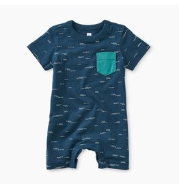 Tea Collection Printed Pocket Romper-Tranquil