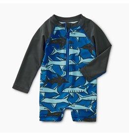 Tea Collection School of Sharks Shortie Rash Guard