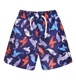 Flap Happy Swim Trunks - Silly Sharks