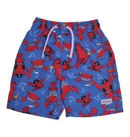 Flap Happy Swim Trunks - Lobster Pirate