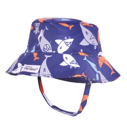 Flap Happy Crusher Hat - Silly Sharks