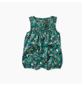 Tea Collection Flora and Fauna Smocked Ruffle Romper
