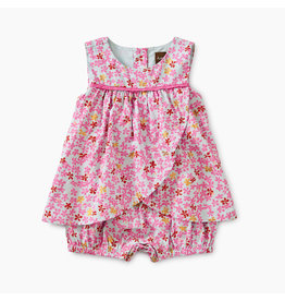 Tea Collection Ditsy Romper Dress - Brilliant Blooms