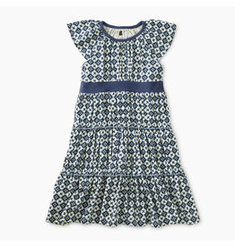 Tea Collection French Mosaic Tiered Twirl Dress