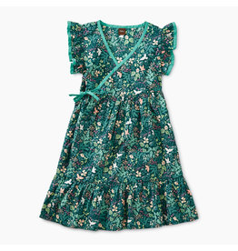 Tea Collection Flora and Fauna Woven Wrap Dress