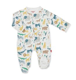 Magnificent Baby Magnetic Cotton Footie - Serengeti