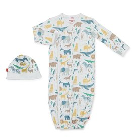 Magnificent Baby Magnetic Cotton Gown - Serengeti