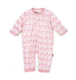 Magnificent Baby Magnetic Modal Coverall - Soft Pink Elephants