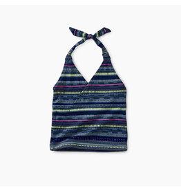 Tea Collection Printed Tie Tankini Set - Sea Breeze