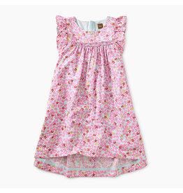 Tea Collection Ruffle Sleeve Hi-Lo Dress - Brilliant Blooms