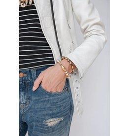 31 Bits Starlight Bracelet - Cream/Gold