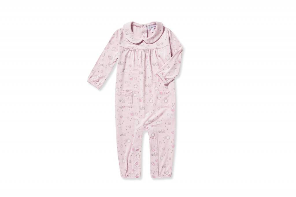 0de2693d2 Pink Penguins Peter Pan Romper