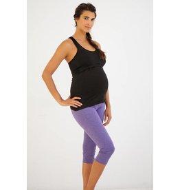 Belabumbum Maternity Nursing Racerback Cami - Black